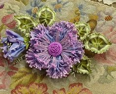 Antique French Ruffled Ombre Ribbon