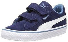 Puma Puma 1948 Vulc V Inf, Unisex-Kinder Sneakers, Blau (peacoat-white 01), 33 EU (1 Kinder UK) - http://on-line-kaufen.de/puma/33-eu-puma-puma-1948-vulc-v-inf-unisex-kinder