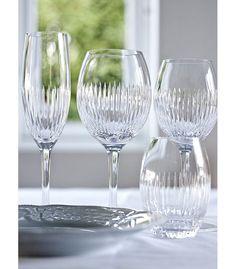 Samleobjekt - alle typar glas av Alba fine line serien// Magnor Glassverk