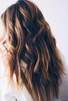beachy brunette waves