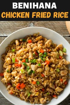 Benihana Chicken Fried Rice Benihana may be the king of fried rice, but don't let that stop you from making this Japanese staple at home. With a few simple ingredients, you can make Benihana chicken fried rice in the comfort of your home! Benihana Fried Rice, Shrimp Fried Rice, Hibachi Fried Rice, Easy Fried Rice, Chicken Fried Rice Recipe Easy, Hibachi Chicken, Benihana Rice Recipe, Pf Changs Fried Rice Recipe, Recipes