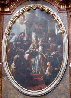 Petr Brandl - Sv. Blažej uzdravuje nemocnou dívku - 1727 - Smiřice