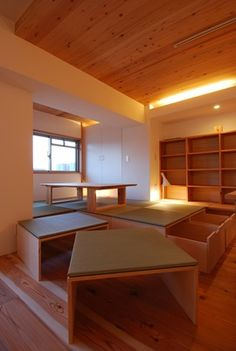 itami-on182 Small Condo Living, Condo Living Room, Living Room Decor, Modern Japanese Interior, Tatami Room, Japanese Bedroom, Apartment Interior Design, Decorating Small Spaces, New Homes