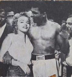 Marilyn Monroe and Muhammad Ali