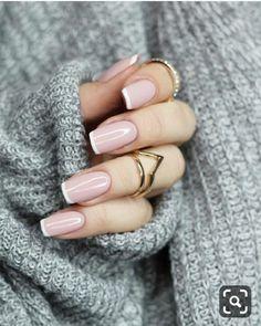 Pin on makeup / hair / nails – Nageldesign – Nail Art – Nagellack – Nail Polish – Nailart – Nails – Nails French Nails, French Manicure Acrylic Nails, French Manicure Nail Designs, Cool Nail Designs, Acrylic Nail Designs, Nail Manicure, French Manicures, Nail Polish, Nails Design