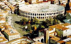 The Roman Arena- Verona, Italy - this is very impressive, people forget it's here! Opera here during the summer