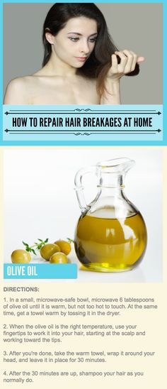 How To Repair Hair Breakages At Home: Using Olive Oil