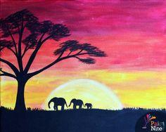 Paint Nite - Safari Sunset