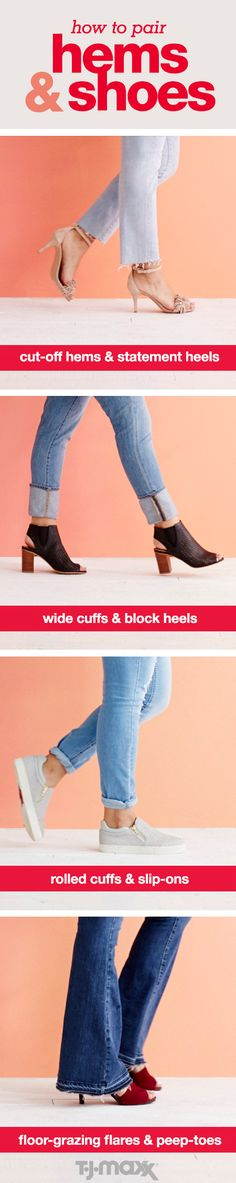 The best part about denim? You can dress it up with fringe sandals or peep-toes or keep it relaxed with booties or slip-ons. Plus, there are so many ways to style jeans this season. Frayed, flared, cuffed or rolled, this denim guide has you covered for all your outfit options. Shop shoes to wear with your favorite jeans at tjmaxx.com.