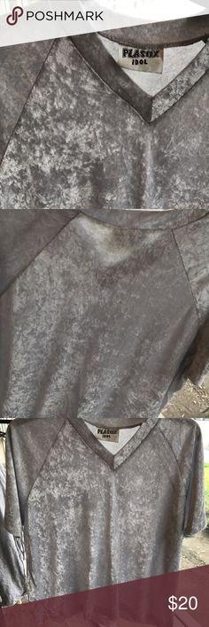 Velvet boyfriend Tee   never worn   velvet v-Neck T-shirt   so plush and comfy   Tops Tees - Short Sleeve