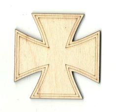 Cross Unfinished Laser Cut Wood Shape REL4