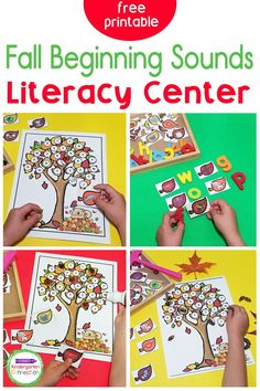 Grab this free Fall Leaves Beginning Sounds Activity for Preschool & Kindergarten small groups and literacy centers this season! Your kids will love it! This free printable activity is an engaging, hands-on way to practice identifying beginning sounds! Word Family Activities, Spelling Activities, Letter Activities, Sorting Activities, Literacy Skills, Kindergarten Literacy, Literacy Centers, Leaf Cards, Beginning Sounds