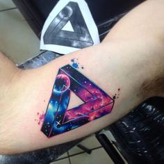 Awesome impossible triangle tattoo