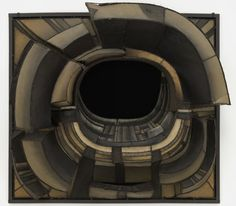 """When Lee Bontecou first exhibited her steel-and-canvas sculptures, many praised their aggressive, ominous qualities. Fellow artist Joseph Cornell described their gaping black cavities as summoning """"the terror of the yawning mouths of cannons, of violent craters, of windows opened to receive your flight without return, and the jaws of the great beasts."""""""