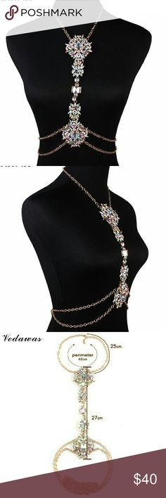 body rhinstone choker bohemian statement necklace body Crystal Rhinestone Choker Maxi Statement Necklace   material: zinc alloy Jewelry