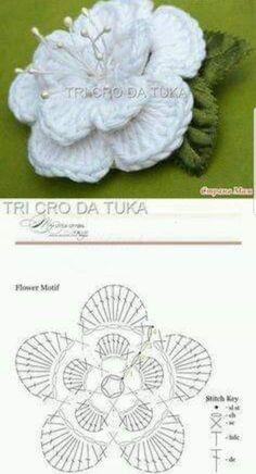 irish crochet motifs Crochet flowers irish knitting 43 Ideas for 2019 Irish Crochet Patterns, Crochet Symbols, Crochet Motifs, Crochet Diagram, Crochet Stitches, Crochet Designs, Knitting Patterns, Irish Crochet Charts, Knitting Ideas