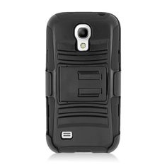 EGC Samsung Galaxy S4 Mini Case Advanced Armor Holster - Black