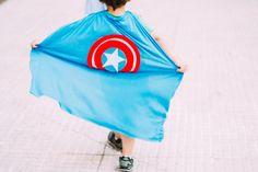 Como hacer capas de Superhéroes DIY : via La Chimenea de las Hadas