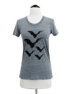 Bat T-Shirt - Vintage Horror Bats American Apparel ladies Tri-blend shirt - (Available in sizes S, M, L, XL)