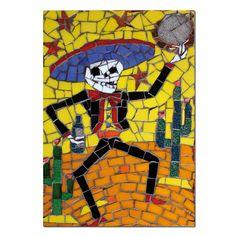 Ricardo is Dead - Mariachi Dancing Skeleton with Tambourine #sugarskull #dayofthedead #skulls #skeleton #gifts #homeware #homedecor