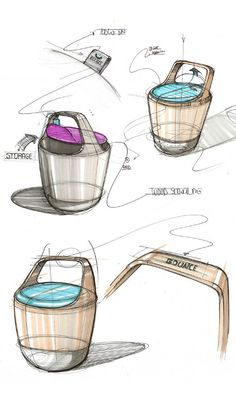 Modern Furniture, Bounce Chair Design by Pedro Gomes #ChairSketch