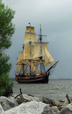 Sail Boat that looks like the one on the Goonies, love that movie...Ann