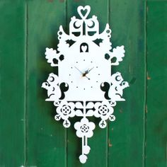 Cuckoo Clock - Chalky White by Jo Melrose Design on THEHOME.COM.AU