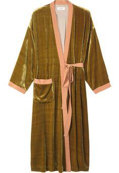60c191781541 Silk Velvet Dressing Gown from Toast Peignoir