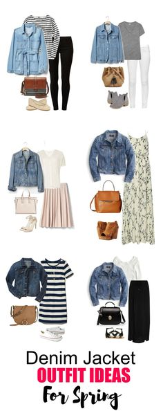6 Denim Jacket Outfit Ideas for Spring - The denim jacket is a versatile piece to have in your wardrobe and can be worn from season to season. ideen jeansjacke 6 Denim Jacket Outfit Ideas for Spring Mode Outfits, Jean Outfits, Casual Outfits, Fashion Outfits, Modest Fashion, Fashion Ideas, Fashion Trends, Fashion Tips, Summer Denim