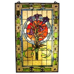 Beautify your homes in Victorian style with the Chloe Lighting Tiffany Victorian Window Panel. This attractive window panel is full of colors and has beautiful designs that will add sheer elegance to the room. Constructed from glass, bronze and metal this piece is sturdy and durable. The multi-colored finish gives it a vibrant appeal and it easily blends with most of the decors. This beautiful piece is made from 280 glass pieces and 30 cabochons, which make it look glamorous and unique. This…