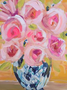 Abstract Roses Flowers poppies peony Still Life by Marendevineart