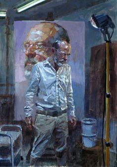 Laurent Dauptain -Autoportrait  huile sur toile  162 X 114 cm  2016