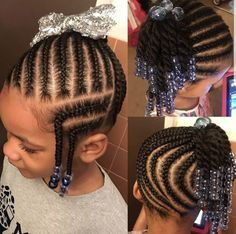 Braided side ponytail w/ twists✨ Products used: leave-in Curl cream Little Girl Braid Styles, Little Girl Braid Hairstyles, Toddler Braided Hairstyles, Side Ponytail Hairstyles, Side Braid Ponytail, Kid Braid Styles, Little Girl Braids, Baby Girl Hairstyles, Natural Hairstyles For Kids