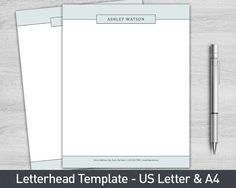 Letterhead template for word personalized letterhead diy custom letterhead template for word personalized letterhead business letterhead custom letterhead diy stationary custom stationary spiritdancerdesigns Images