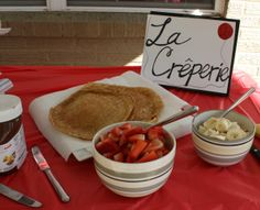 french theme first birthday: make your own crepe station