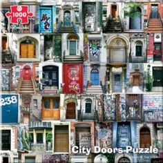 City Door Collage Collage Jigsaw Puzzle