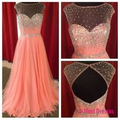 Blush Pink Prom Dresses,Backless Evening Gowns,Sexy Formal Dresses,Beaded Prom Dresses,Sequins Evening Gown,Open Backs Evening Dress,Tulle Prom Dresses PD20185002