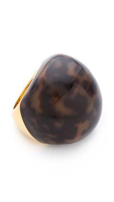 Tortoiseshell ring.