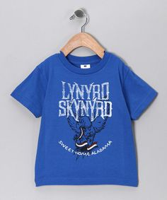Take a look at this Blue Lynyrd Skynyrd 'Sweet Home Alabama' Tee - Toddler & Kids by Rock Band: Tees & Bodysuits on #zulily today!