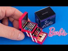 Diy How To Make Mini Makeup Kit Dollhouse Hacks And Crafts For Barbie Diy Makeup Kit, Airbrush Makeup Kit, Makeup Kit For Kids, Makeup Kit Essentials, Mini Makeup, Basic Makeup, Diy Doll Makeup, Barbie Makeup Kit, Makeup Ideas