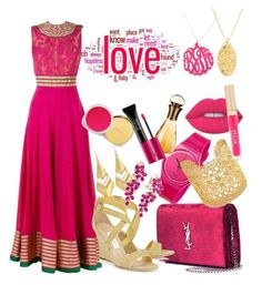 """""""Love #10"""" by lovely-krystal ❤ liked on Polyvore featuring Yves Saint Laurent, Swatch, Stella & Dot, Annie Fensterstock, Initial Reaction, Alexis Bittar, Effy Jewelry, Lime Crime, Stila and Christian Dior"""