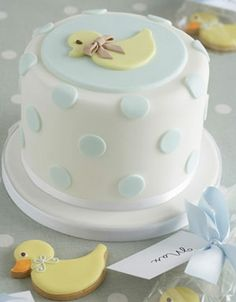 48 Ideas Baby Boy Shower Cakes And Cupcakes Blue Rubber Ducky Baby Shower, Baby Shower Duck, Baby Cakes, Beautiful Cakes, Amazing Cakes, Fondant Cakes, Cupcake Cakes, Cake Cookies, Cookies Et Biscuits
