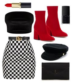 """classy."" by olesinska on Polyvore featuring Maison Margiela, Manokhi, Yves Saint Laurent, Gucci and NARS Cosmetics"