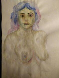 Woman 2, watercolor