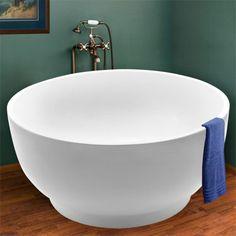"51"" Kaimu Round Freestanding Acrylic Soaking Tub"