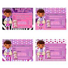 Cute Doc Mcstuffins Invitation, Doc Mcstuffins Invitations, Doc Mcstuffins Party, Doc Mcstuffins Birthday, Prescription Invitations. $9.99, via Etsy.