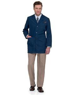 Landau Men's Tailored Lab Coat