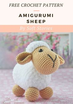 A free crochet pattern of an Amigurumi Sheep. Do you also want to crochet this s. : A free crochet pattern of an Amigurumi Sheep. Do you also want to crochet this sheep? Read more about the Free Crochet Pattern Amigurumi Sheep. Crochet Easter, Easter Crochet Patterns, Crochet Bunny, Crochet Patterns Amigurumi, Crochet Animals, Crochet Sheep Free Pattern, Free Crochet, Crochet Chicken, Cute Sheep