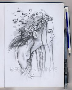 Emotions and Expressions in Drawings Pencil Drawing Images, 3d Art Drawing, Girl Drawing Sketches, Dark Art Drawings, Girly Drawings, Art Drawings Sketches Simple, Abstract Drawings, Creative Pencil Drawings, Pencil Sketches Of Girls