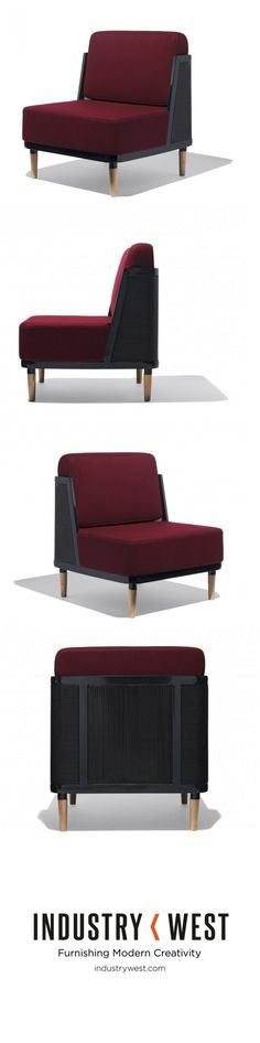 The new amazingly raspberry Marcel Lounge Chair from Industry West.